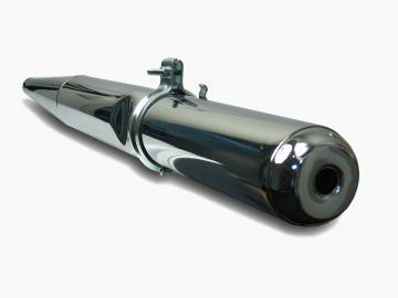 Auspuff Enduro chrom passend für S51/1E, S51/1E1, S70/1E, S53E, S53OR, S83E, S83OR