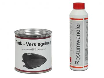 Wagner Tankversiegelung (2-teilig - Rostumwandler und Spezialversiegelung mit Harz)