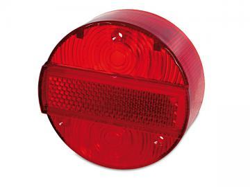 Rücklichtkappe rot 3 Schrauben Ø120 mit KZB (E-Prüfzeichen) passend für S51, S70, KR51/2, SR50, SR80