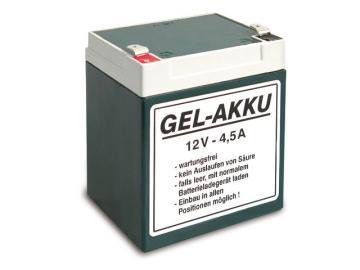 Batterie (Vlies - wartungsfrei) 12V 4,5 Ah passend für ES, TS, ETZ