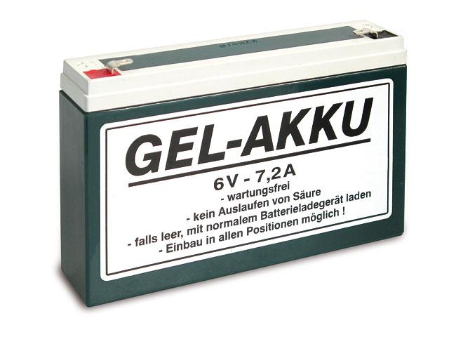 Batterie (Vlies - wartungsfrei) 6V 7,2 Ah passend für ES, TS