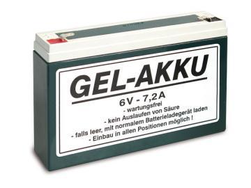 Batterie (Vlies - wartungsfrei) 6V 7,2 Ah passend für S50, S51, S70, SR50, SR80