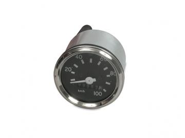 Tacho Ø60 mit Blinkerkontrolle (bis 100 km/h) (Chromring) (Aka Electric*) passend für S51, S70, S53, S83