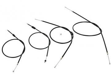 Bowdenzugsatz Enduro, S51E, S70, S53E, S83E schwarz komplett (4-teilig) (import)