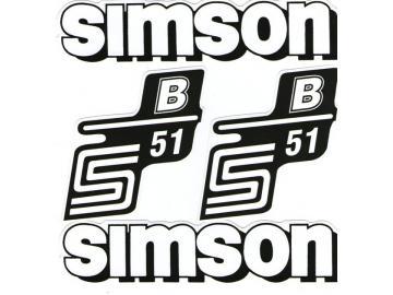 Aufkleber S51B weiß Set