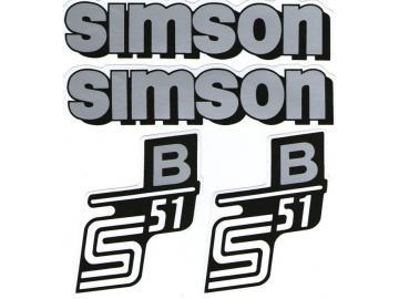Aufkleber S51B silber